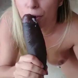 Very lucky huge cock